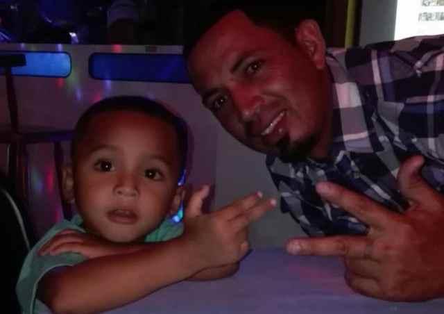 Eric Matute Castro and son